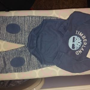 Timberland 2pc 6/9month Onsie and Jogger set